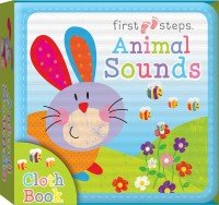 First Steps Cloth Board Book: Animal Sounds