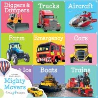 First Steps Chunky Board Books: Mighty Movers