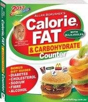 Allan Borushek's Calorie, Fat and Carbohydrate Counter 2017