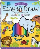 Easy to Draw: In the Wild Drawing and Marker Kit