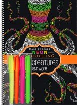 Neon Colouring Sea Creatureswith 4 Highlighters