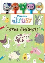 You Can Draw: Farm Animals 5-Pencil Set