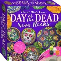 Paint Your Own Day of the Dead Neon Rocks Small Kit