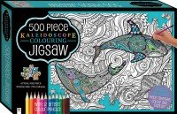 Kaleidoscope Colour-in Jigsaw with Pencils: Beneath the Waves