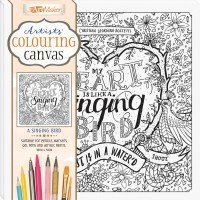 Artists' Colouring Canvas: A Singing Bird