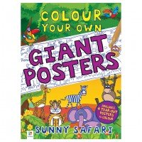Colour your own Giant Posters: Sunny Safari