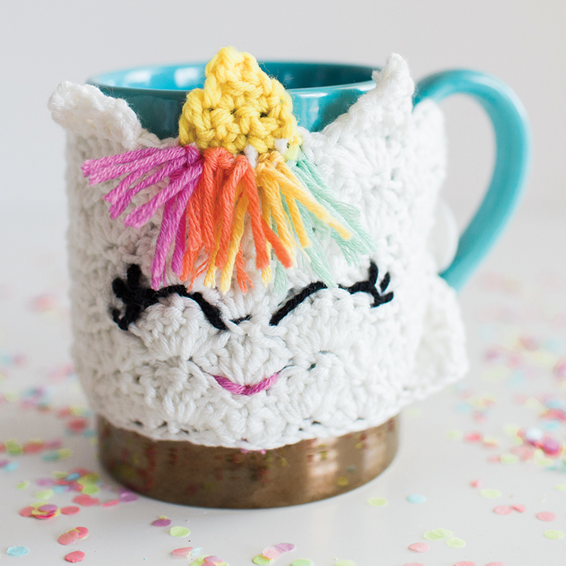 Crochet Unicorn Mug