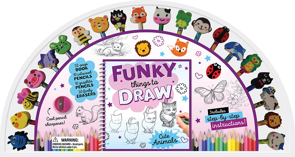 Funky Things To Draw 20 Pencil And Eraser Set Fan Learn To Draw