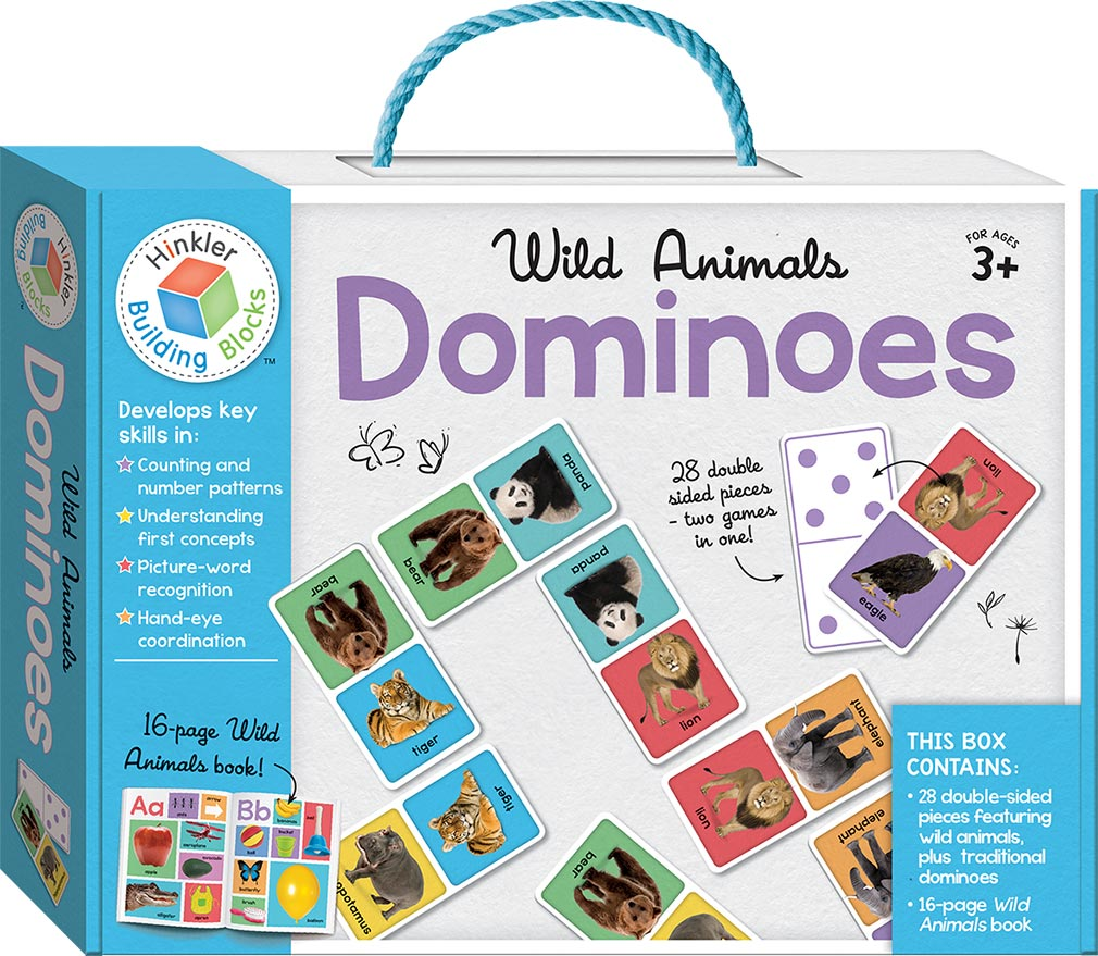 Wild Animals Building Blocks Dominoes - Games and Puzzles - Early