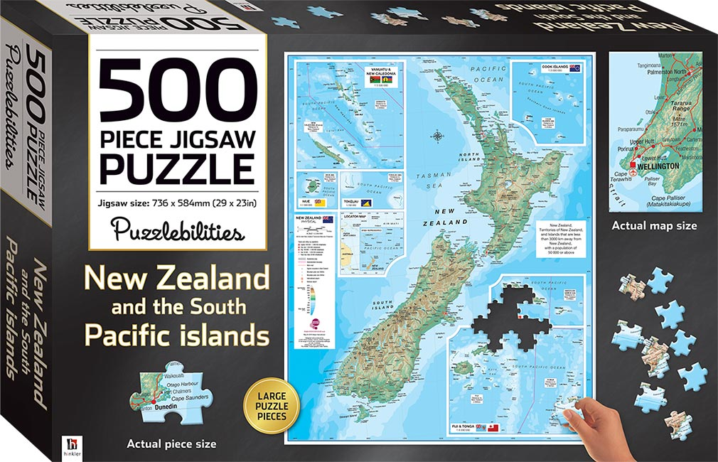 Map Of Australia Jigsaw Puzzle.New Zealand 500 Piece Jigsaw Puzzle Jigsaws Games Toys