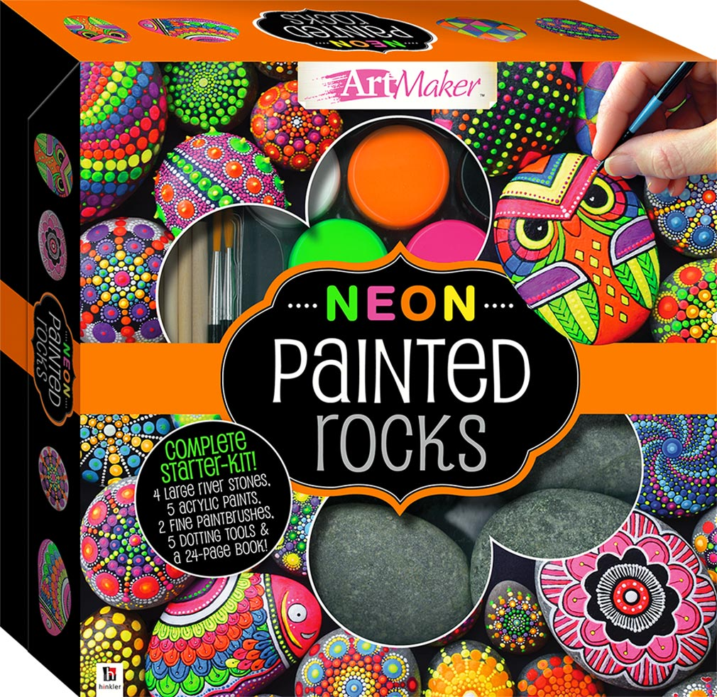 Paint Your Own Neon Stones Kit Craft Kits Art Craft