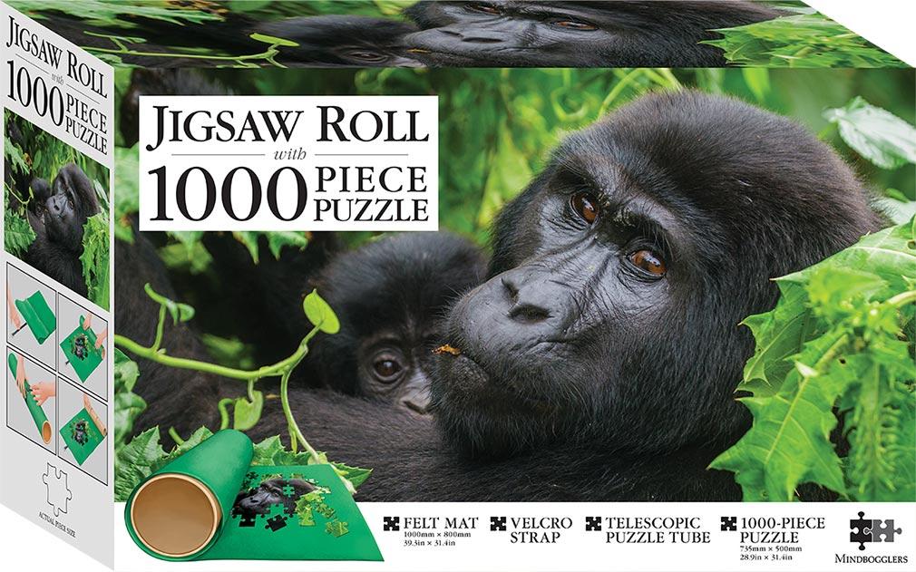Gorillas Uganda 1000 Piece Jigsaw With Mat 1000 Piece