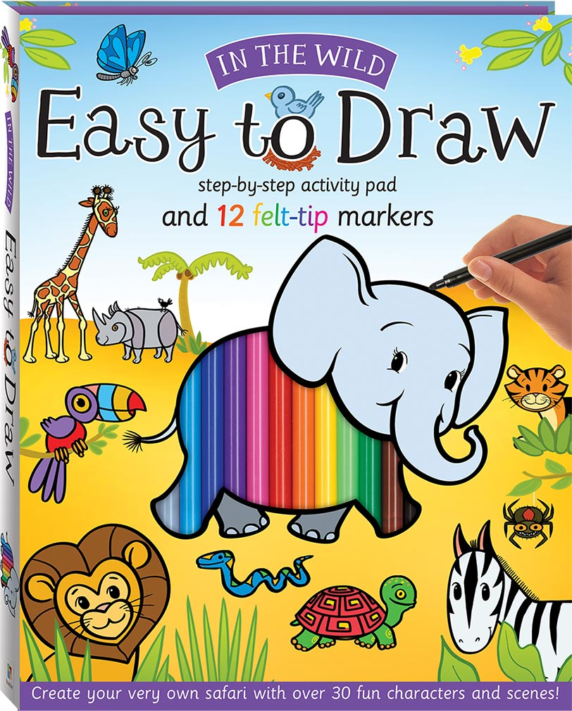 Easy To Draw In The Wild Drawing And Marker Kit Drawing Colour Activity Children Hinkler