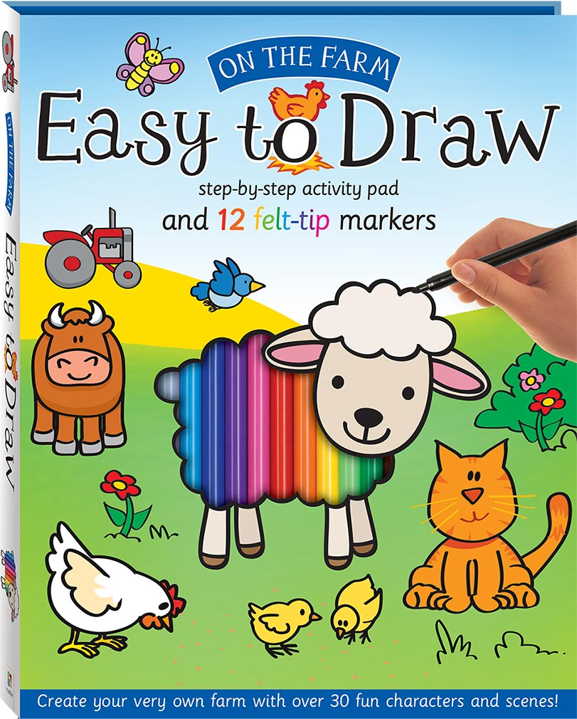 Easy To Draw On The Farm Drawing And Marker Kit Drawing Colour