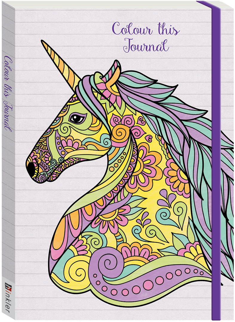 Colour This Journal Unicorn Books Adult Colouring