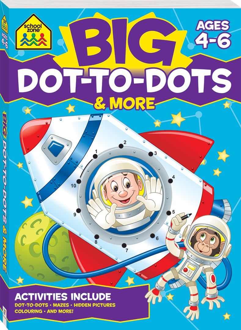 School Zone Big Dot To Dots Activity Book