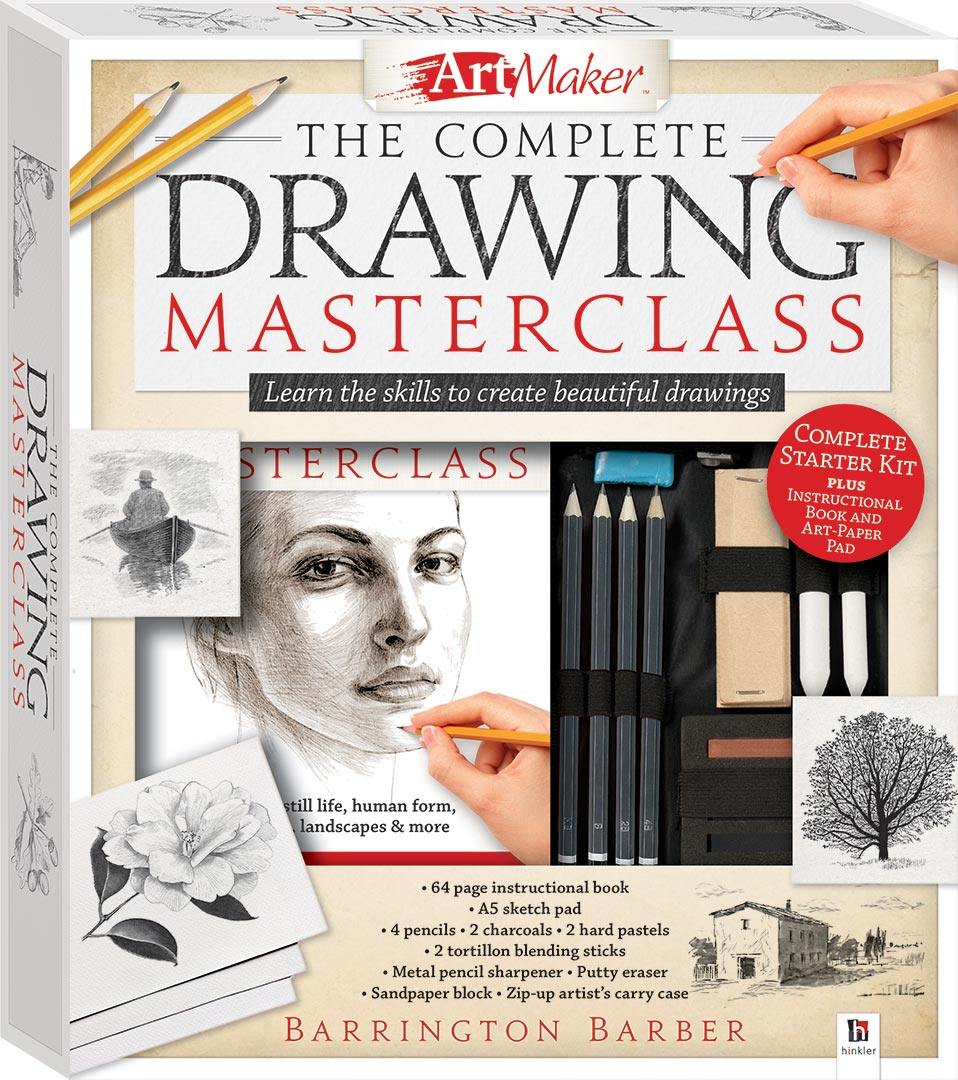 Art Maker The Complete Drawing Masterclass Kit - Gift Sets - Adults ...