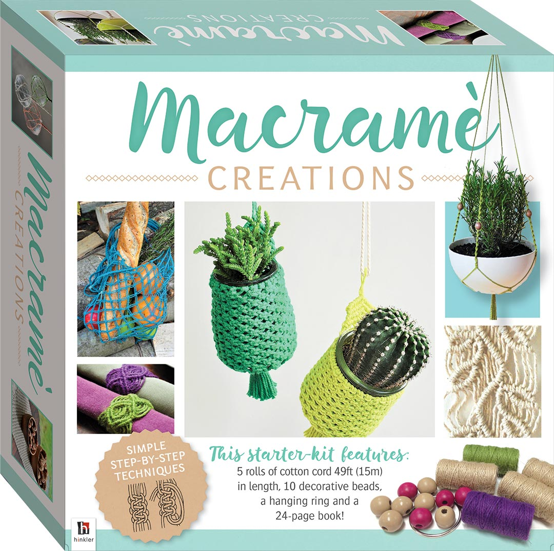 Macrame creations small kit craft kits art craft for Craft kit for adults
