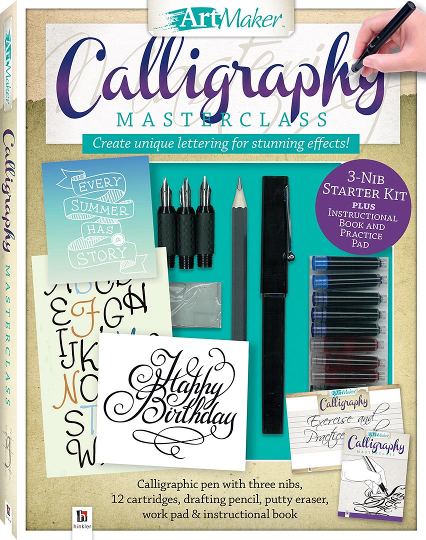 Art maker calligraphy masterclass kit gift sets adults
