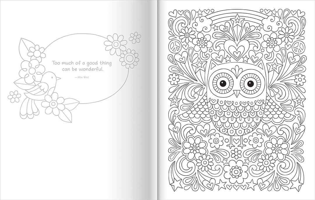 Notebook Doodles Super Cute Colouring Colour
