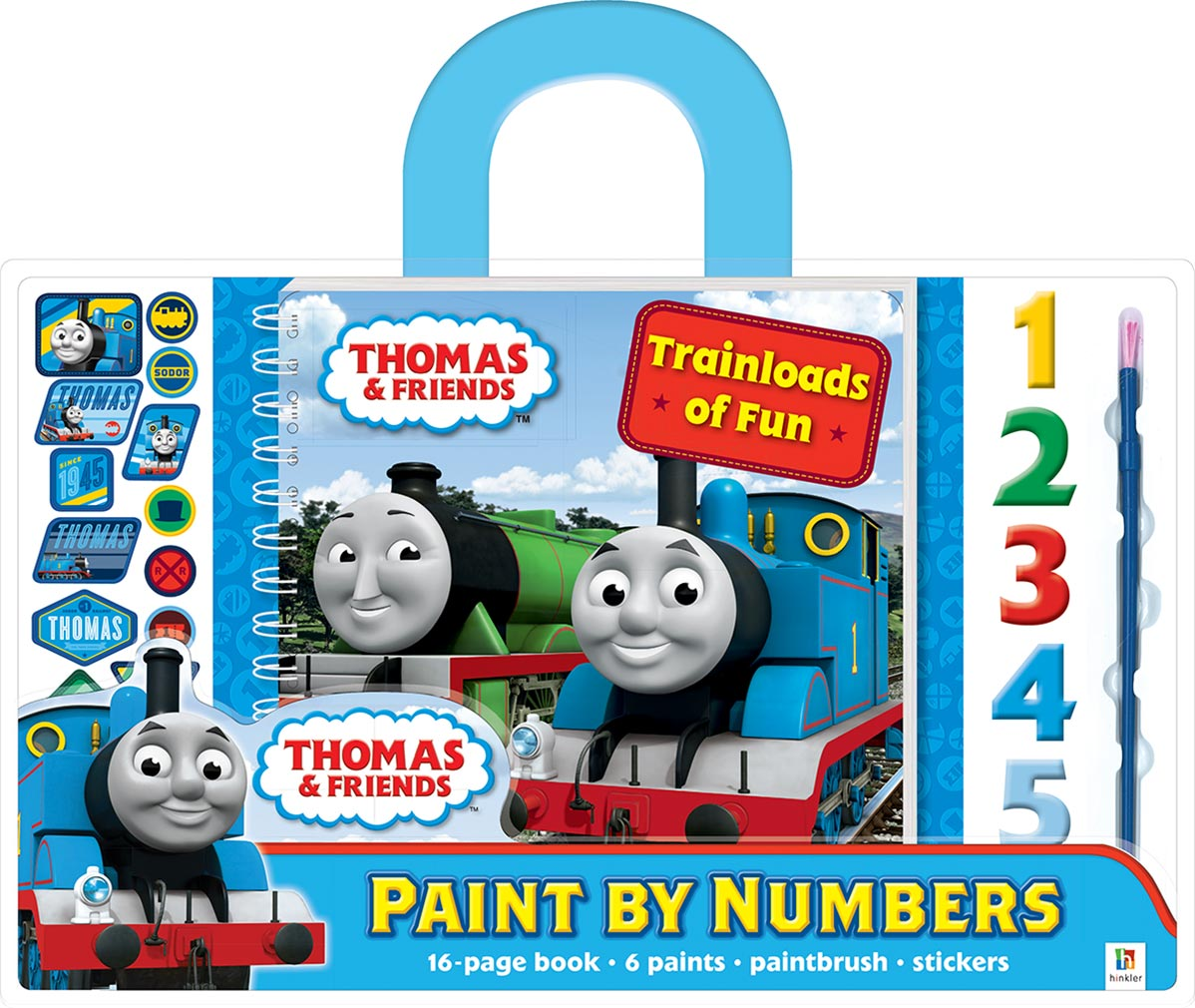 Thomas Paint by Numbers with Carry Handle: Trainloads of Fun ...