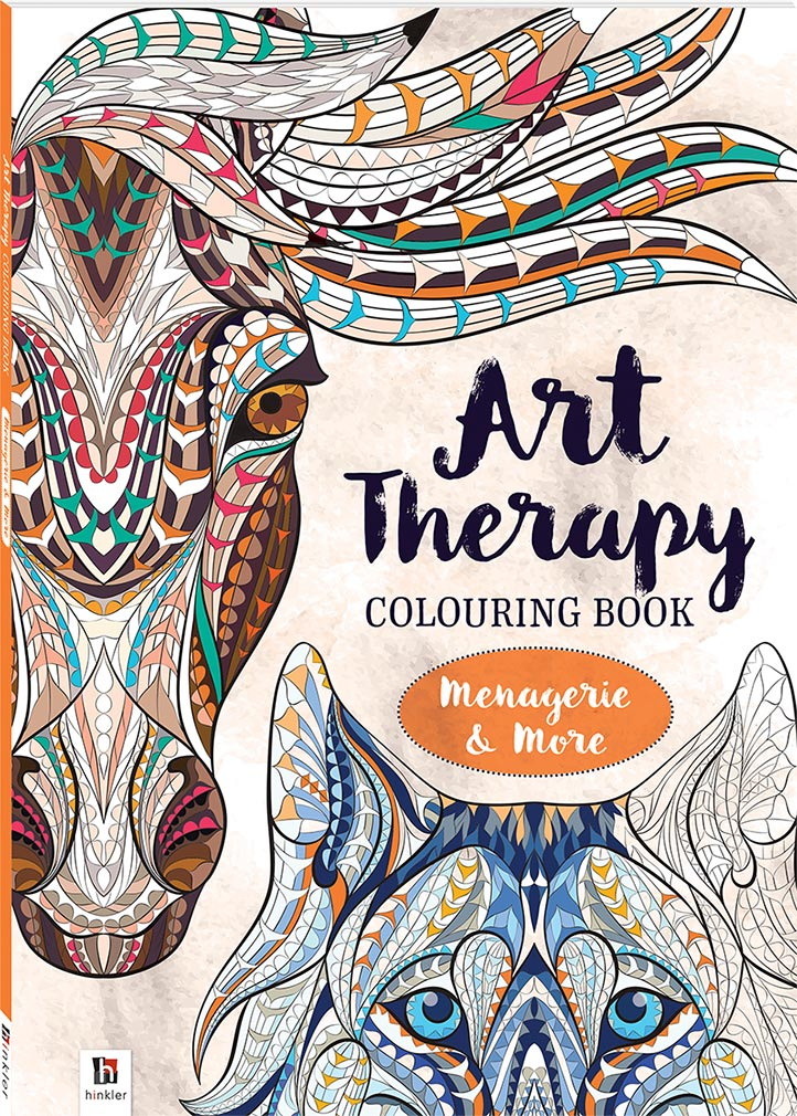 Art Therapy Adult Colouring Book Menagerie And More
