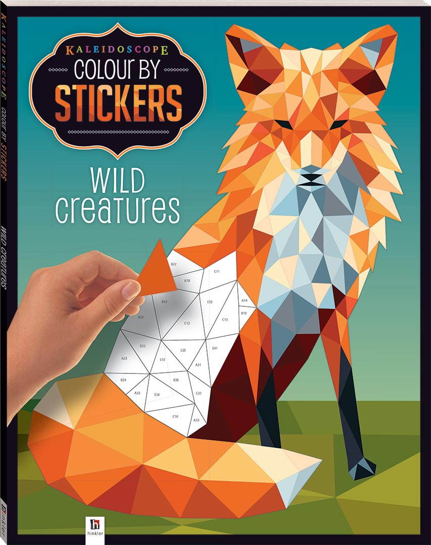 Kaleidoscope Colour By Stickers Wild Animals Books
