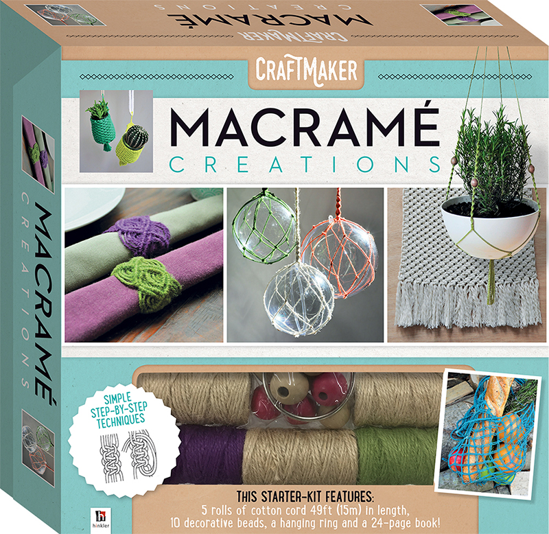Craftmaker macrame creations kit craft kits art for Craft kits for adults to make