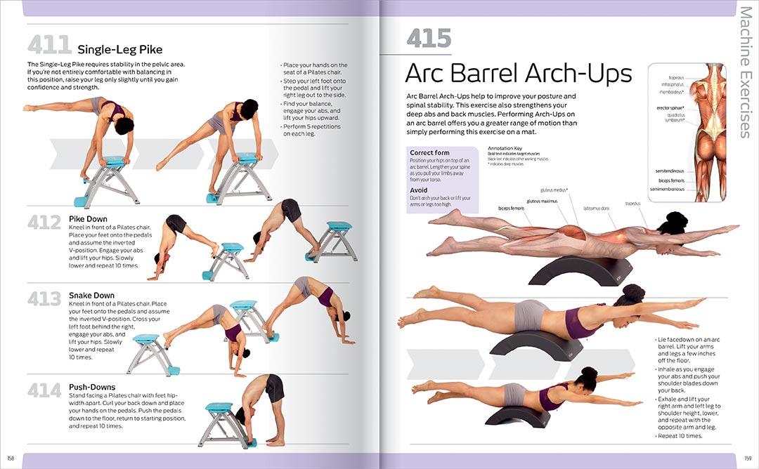Anatomy of Fitness 501 Pilates Exercises - Books - Health, Fitness + ...