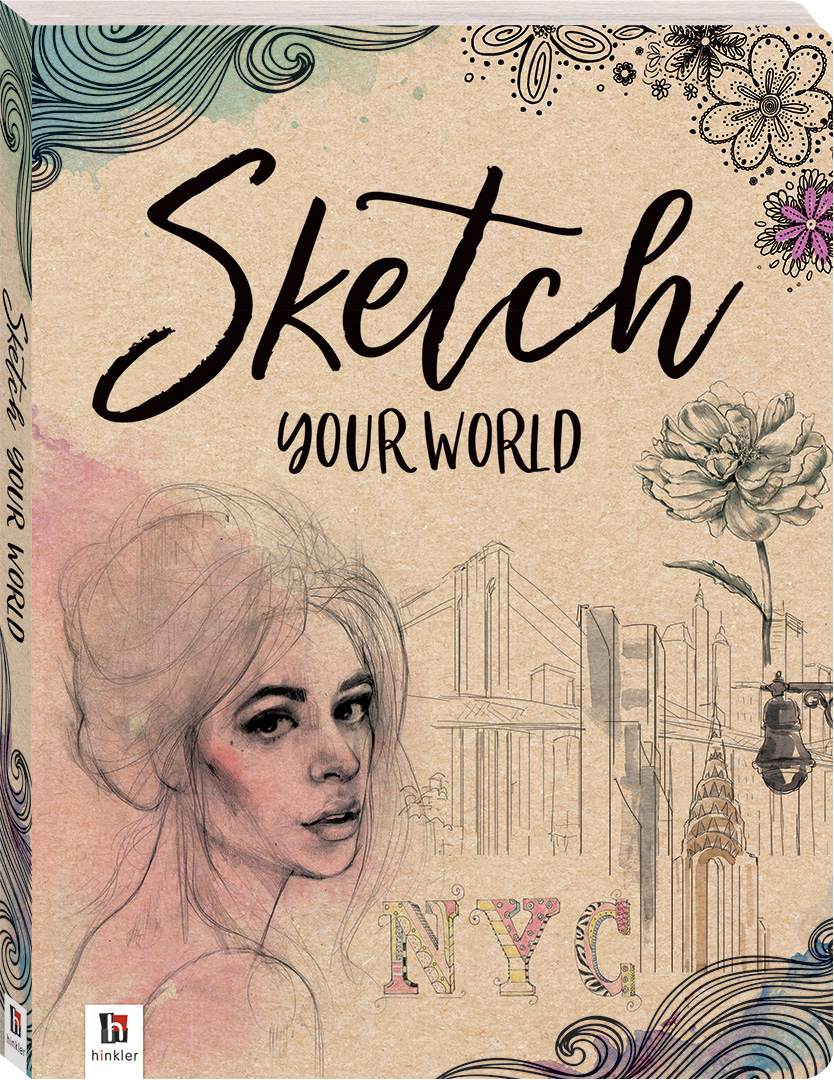 Sketch your world art kits art craft adults hinkler