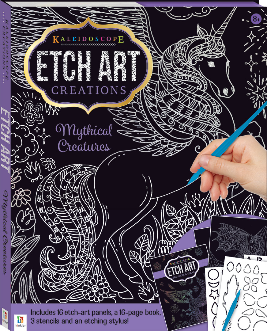 Kaleidoscope Etch Art Creations Mythical Creatures