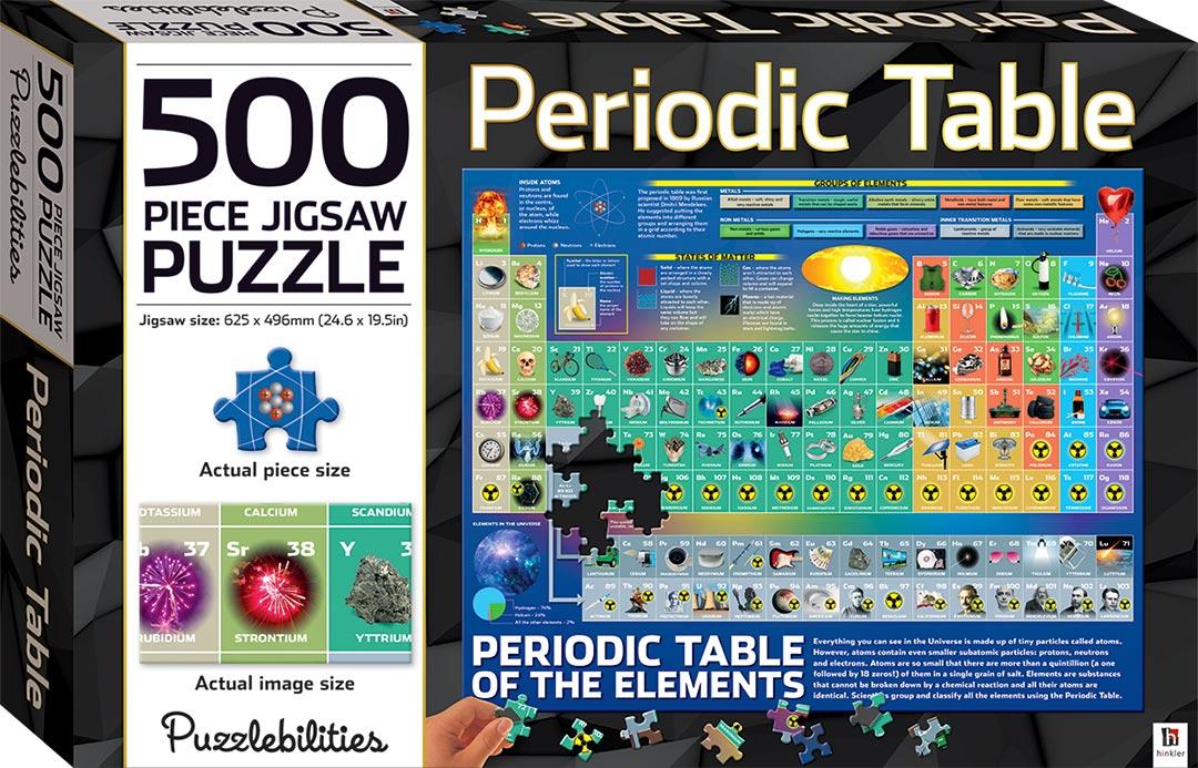 Periodic Table 500-piece Jigsaw Puzzle - 500-Piece ...
