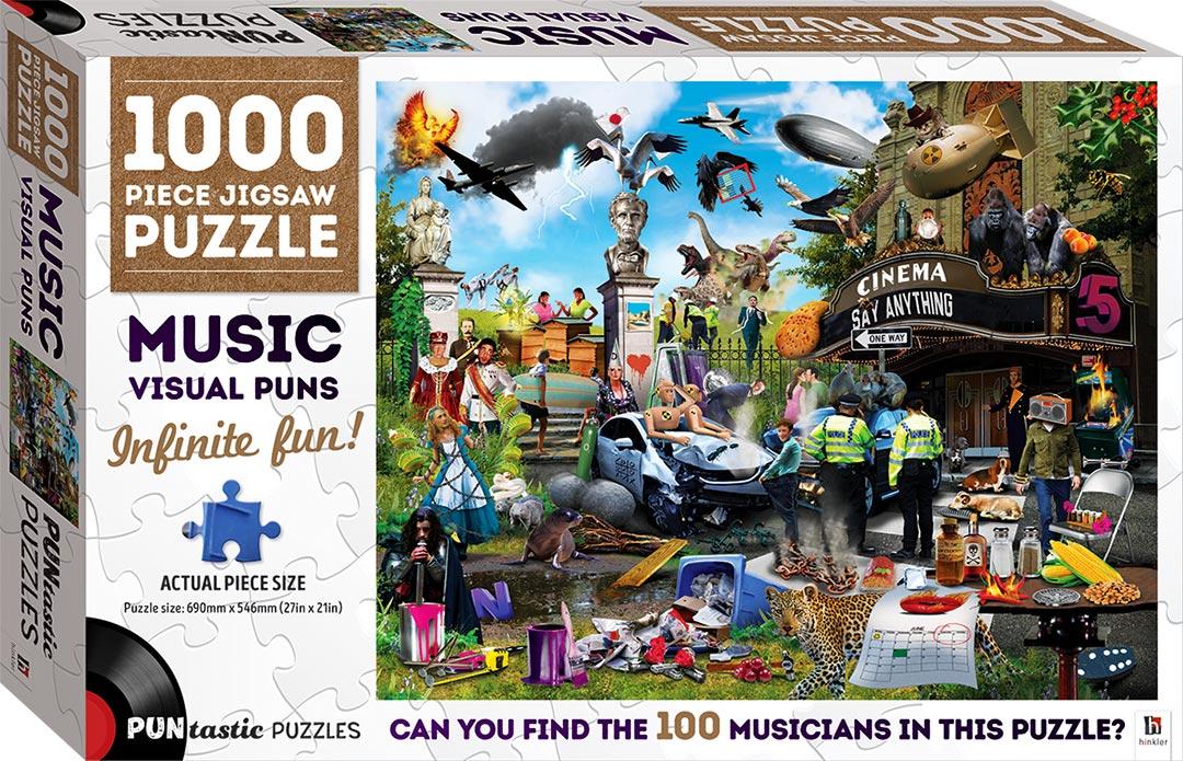 Puntastic Puzzles Music 1000 Piece Puzzle 1000 Piece