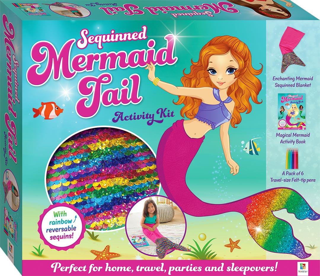 Sequinned Mermaid Tail Activity Kit - Novelty - Colour + Activity -  Children - Hinkler