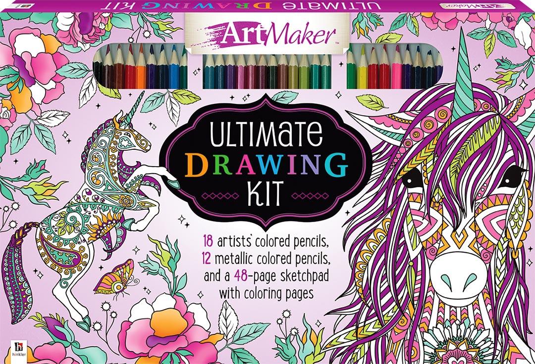 Artmaker Ultimate Drawing Kit Unicorns Kits Adult