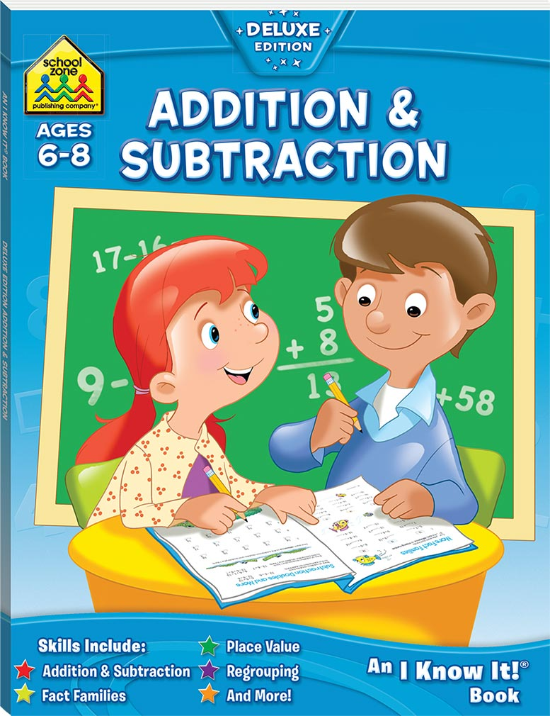 Book Cover School Zone ~ School zone addition and subtraction i know it book