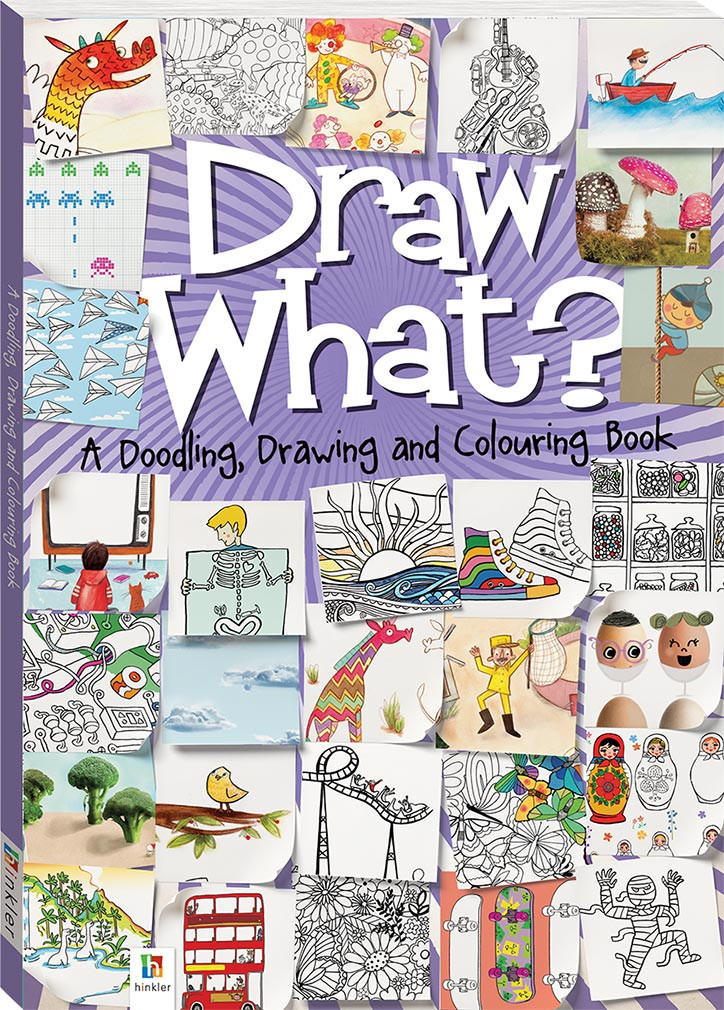 Draw What? A Doodling, Drawing and Colouring Book - Learn to Draw - Children - Hinkler