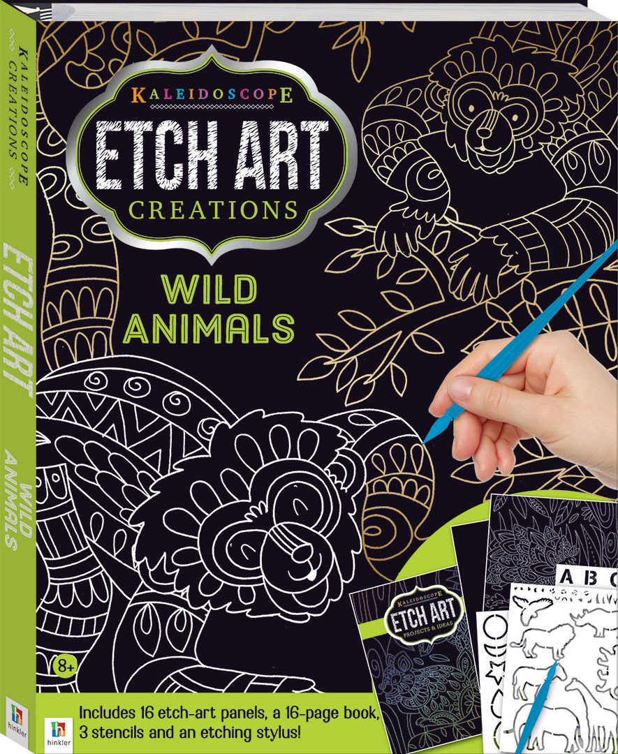 Kaleidoscope Etch Art Creations Wild Animals And More Craft Kits
