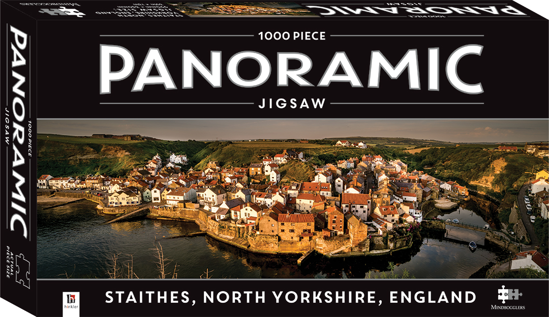1000 Piece Panoramic Jigsaw Puzzle Staithes Village