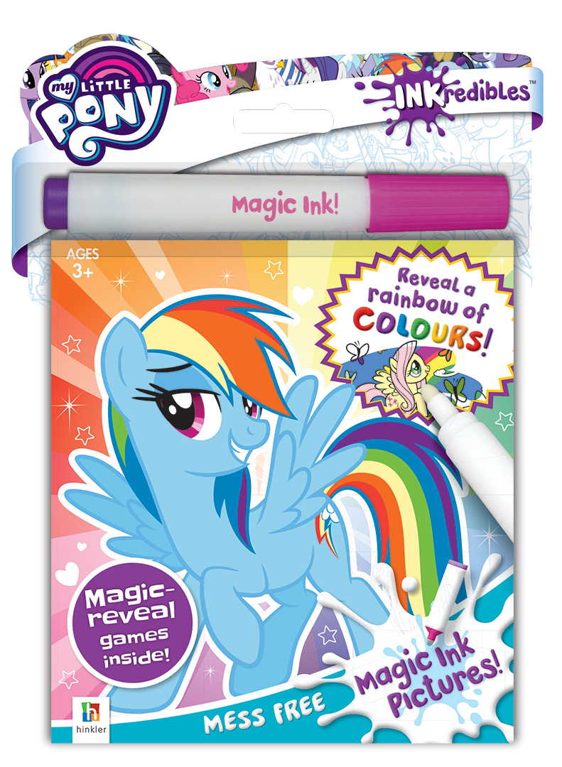 inkredibles my little pony magic ink pictures colouring colour