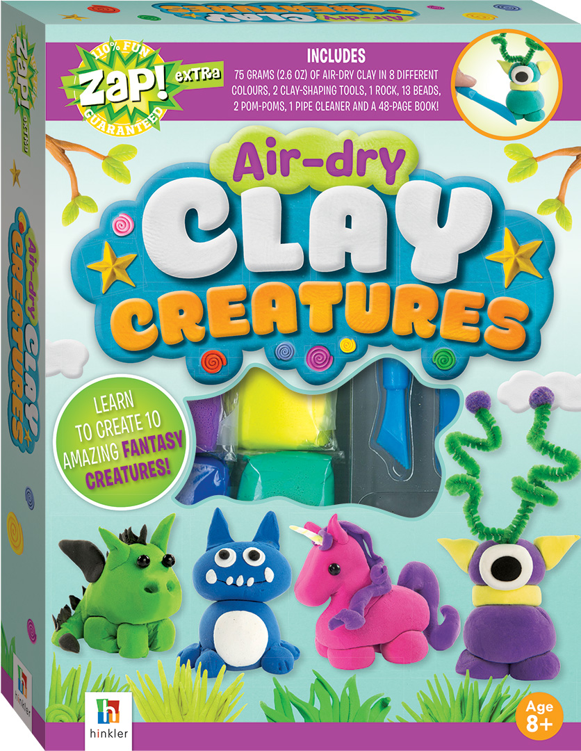 zap extra air dry clay creatures craft kits art craft