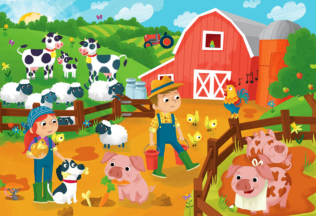 junior jigsaw on the farm large puzzles games toys hobbies