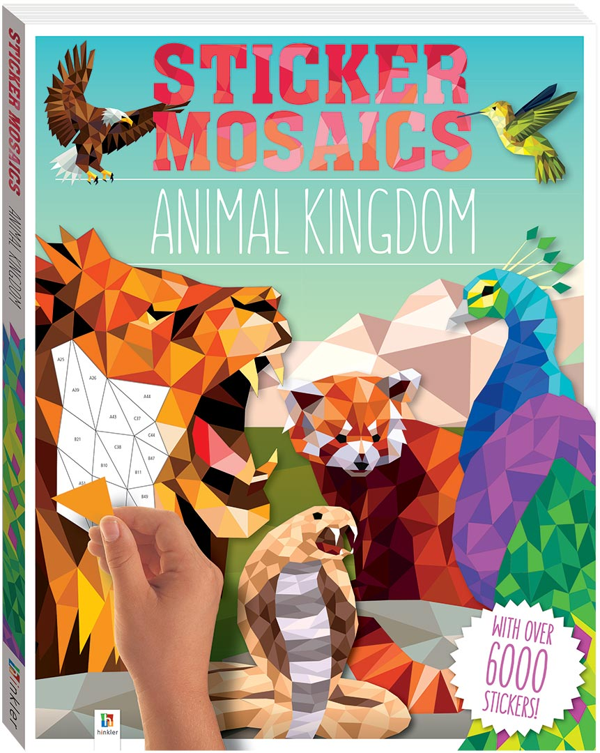 Image of: Ancient Sticker Mosaics Animal Kingdom Hinkler Books Sticker Mosaics Animal Kingdom Books Adult Colouring Adults