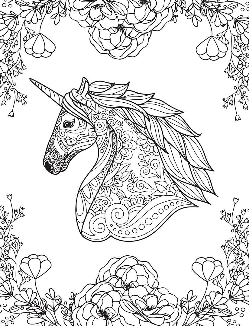 Kaleidoscope Pastel Colouring Book: Unicorns and More ...