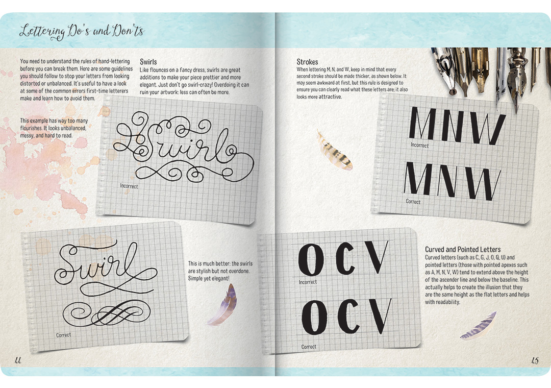 The Art Of Drawing Letters Hand Lettering Calligraphy
