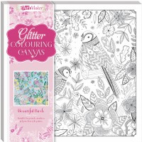Art Maker Glitter Colouring Canvas: Beautiful Birds