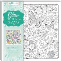 Art Maker Glitter Colouring Canvas: Secret Garden