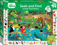 Junior Jigsaw Seek and Find 100pc Jigsaw Jungle Expedition