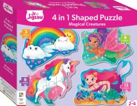 Junior Jigsaw Shaped 4-in-1: Magical Creatures