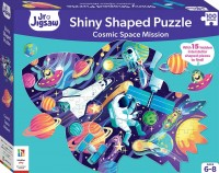 Cosmic Space Mission Shiny Shaped Puzzle